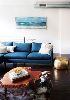 #Mykonos blue #pantone #interiorstyling   minus the pelt