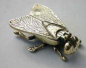 Vintage brass fly ashtray....... by thehankyheiress on Etsy