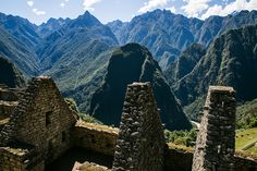 The beautiful mountains towering above the Sacred Valley and around Machu Picchu in Peru.