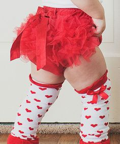 Look at this Bubby & Belle Red Ruffle Bow Diaper Cover - Infant & Toddler on #zulily today!