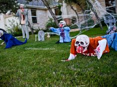 Scary Halloween decorations. DIY tutorial. Zombie skeletons! So cool!