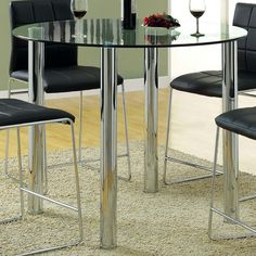 Hokku Designs Narbo Round Counter Height Dining Table & Reviews | Wayfair