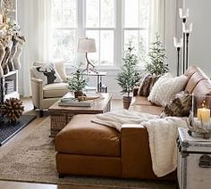 Turner Square Arm Leather Sofa With Chaise Sectional – farmhouse furniture living room Farmhouse Living Room Furniture, Home Living Room, Interior Design Living Room, Living Room Designs, Home Furniture, Living Room Decor, Rustic Furniture, Furniture Layout, Furniture Stores