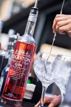 Edgerton Pink Gin Gin And Tonic, Vodka Bottle, Posters, Drinks, Drinking, Beverages, Poster, Drink, Billboard