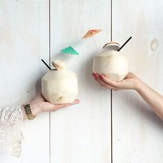 Little umbrellas make everything taste better imo.🍈<let's pretend this is a coconut emoji> Coconut Emoji, Let's Pretend, Umbrellas, Yummy Food, Let It Be, Instagram Posts, How To Make, Delicious Food
