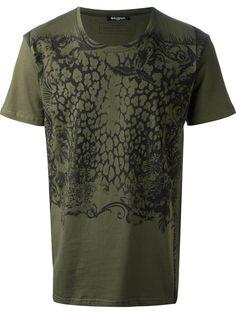 BALMAIN Cheetah Print T-Shirt. #balmain #cloth #t-shirt