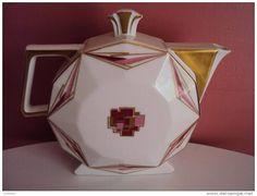 Limoges Art deco teapot