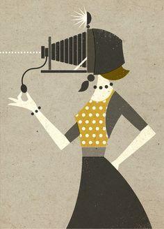 Ретро-иллюстрации От Зары Пикен