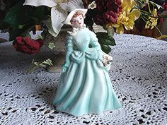 1950s Florence Ceramics Figurine ANN Aqua Pasadena California Florence Lady Figurine view on Etsy by TreasuresPast4U