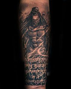 60 shiva tattoo designs for men - hinduism ink ideas Love Tattoos, Unique Tattoos, Small Tattoos, Tattoos For Guys, Tattoos For Women, Tatoos, Mantra Tattoo, Arm Tattoo, Mahadev Tattoo