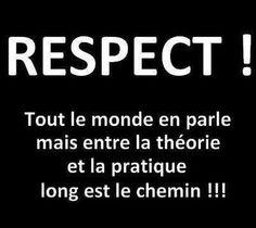Le respect ...