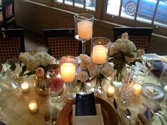 Floral design with  candles