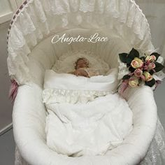 Today I would like to share our   Bassinet with you         Covered with cotton and Austrian lace        The baby bed is nice and big,   ...