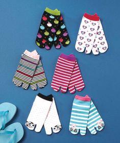 6-Pair Flip-Flop Socks