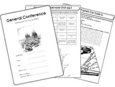 Free General Conference Packets for your senior primary kids from jennyphillips.com - LOVE these!!!