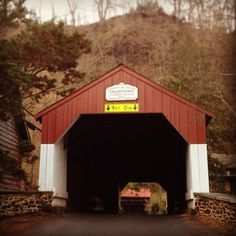 """Beautiful shot of Uhlerstown Covered Bridge, captured by Instagram user @danazaritsky as part of the 2014 """"Capture Your #BucksCountyMoment Photo + Video Challenge."""""""
