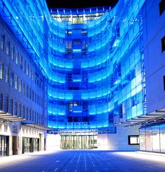 BBC Broadcasting House at night