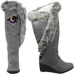 St. Louis Rams Women's Team Supporter Knee-High Boots - Charcoal. NEED RIGHT NOW!!!!!