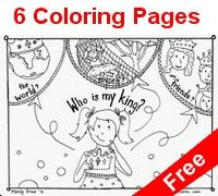 """Click to preview the """"who is my king coloring book"""""""