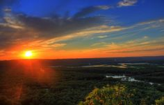 Sunset over Wisconsin and Mississippi Rivers, Wyalusing State Park