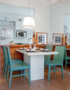 57 m² muito bem aproveitados no apê de estilo clean - Casa