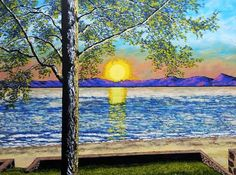 https://www.etsy.com/listing/186507940/custom-commission-original-art-by-mike  Some places are just magical.  And she considers herself very fortunate to have lived in such a place.  On the shores of a lake in the Adirondacks.  At night, they'd place their lawn chairs under the tree and make s'mores.  The sun would set as boats aimlessly float and children laugh in the water.  Mothers and daughters.  Generations of memories  Want to see my work in person? Then visit these galleries: @Whitman…