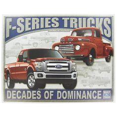 Tin Sign - Ford Series Trucks