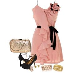 Pink and Gold by misstinamaria on Polyvore