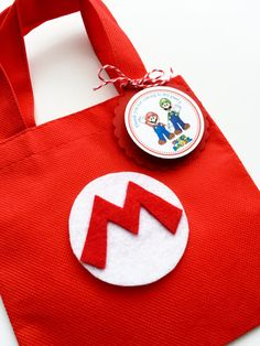 Set of 12 Super Mario Bros Favor Bags with by SalomeCrafts on Etsy