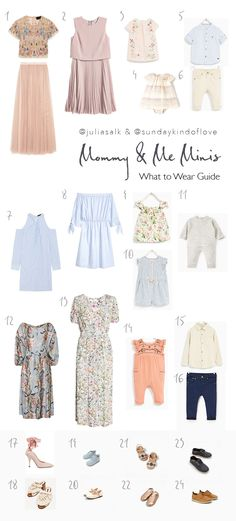 Mommy and me photos for Mother's Day. What to wear outfit inspiration guide #photoswhattowear #outfitguide #mothersday