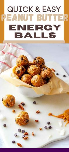 Peanut Butter Energy Balls are an excellent grab and go option for breakfast or a snack. With just six ingredients, these healthy no bake bites are perfect to make on the weekend to enjoy throughout the week. Perfect for the keto diet! Best Low Carb Snacks, Low Carb Desserts, Keto Snacks, Butter Pecan Syrup, Keto Recipes, Snack Recipes, Sugar Free Maple Syrup, Cheesecake Fat Bombs, On The Go Snacks