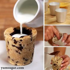 Cookie cups inspired by #cookie #shots Delicioso  #cooking #cute #cup #bake #creative #new #baking #cook #recipe #sweetooth #sweettooth #yum #yummy #chocolate