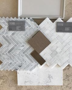 A trip to to look at herringbone marble tiles for the utility room today.they have a lot of options but these two… Home Renovation, Home Remodeling, Marble Tiles, Tiling, Interior Design Boards, Upstairs Bathrooms, Wet Rooms, Bathroom Inspiration, Decoration