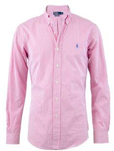 Ralph Lauren Custom Fit Stripe Shirt in Pink