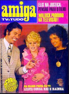 revista amiga - 1971 - capa - silvio santos - vanusa e roberto carlos