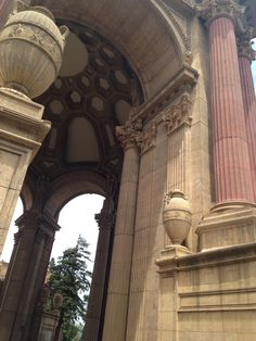Inside the palace of fine arts
