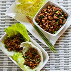 Siracha beef lettuce wraps