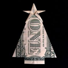 This origami dog is wonderful. Another delightful animal by my favorite origami artist! Dollar Bill Origami, Money Origami, Origami Paper, Origami Ball, Diy Origami, Origami Tooth, Folding Money, Origami Folding, Paper Folding