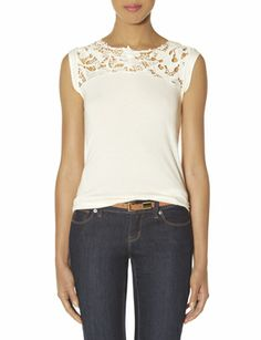 Lace Yoke Top from THELIMITED.com
