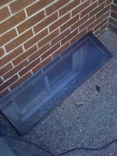 Another finished window well cover. Basement ... & DIY window well cover made from 2x4. | garden | Pinterest | Window ...