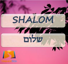 Shalom in Hebrew means Hello. You can greet someone with this word when you see them or also say goodbye smile emoticon