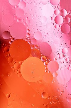 Orange and Pink bubbles | Wedding Style Inspiration by Marigold Paper