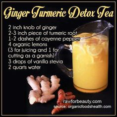 Curcumin Benefits: Understanding This Powerful Antioxidant Ginger Turmeric Detox Tea smoothies Ginger Detox, Lemon Detox, Detox Tea, Cleanse Detox, Juice Cleanse, Tumeric Detox Drink, Diet Detox, Healthy Detox, Healthy Drinks