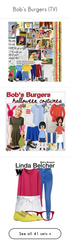 """Bob's Burgers (TV)"" by laceyleanne18 ❤ liked on Polyvore featuring words, phrase, quotes, saying, text, art, botfs1r1, Forever 21, Old Navy and Uniqlo"