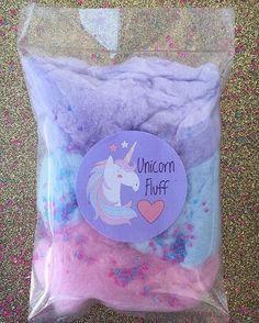 Unicornio de algodón de azúcar favorece 15 bolsos de algodón