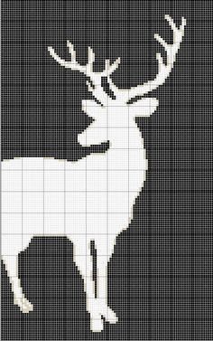 cross stitch pattern - Stag