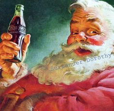 coca cola santas - Google Search