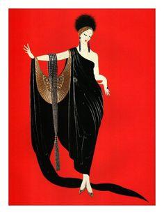 Erté - artista y diseñador consigue contrato para la portada de Harper's Bazaar en 1915