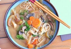 Hearty Vegetable Miso Soup:  5 cups vegetable broth (1200g) 1 tbsp minced garlic (15g) 1 tbsp powdered or 3 tbsp fresh ginger, minced 1 large onion, chopped (170g) 1 1/4 cup carrots, sliced (110g) 2 cups portobello mushrooms, sliced (220g) 2 stalks celery, sliced 1/4 cup miso, dissolved in 2 tbsp broth (For soy-free, use chickpea miso) (60g) 2 cups raw kale or spinach, optional (100g)