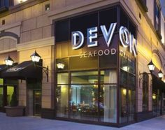 Devon Seafood Grill: 39 E. Chicago Ave. Chicago, IL 60611. Not that great, in the basement. Once was enough.